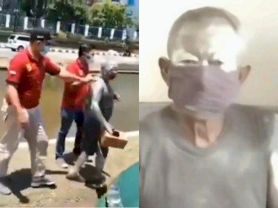 Viral, Satpol PP Tangkap Bapak Pensiunan Polri yang Jadi Manusia Silver di Semarang