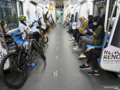 MRT Jakarta Uji Coba Fasilitas Troli Sepeda di Stasiun  Senin Ini