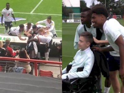 Momen Indah Fulham FC Merayakan Kemenangan Bersama Penggemar yang Menderita Cerebral Palsy