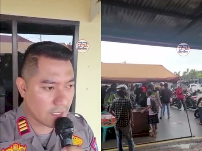 Viral Polisi Ini Tirukan Cara Berdagang di Pasar, Minta Warga Pilih Divaksin atau Ditilang