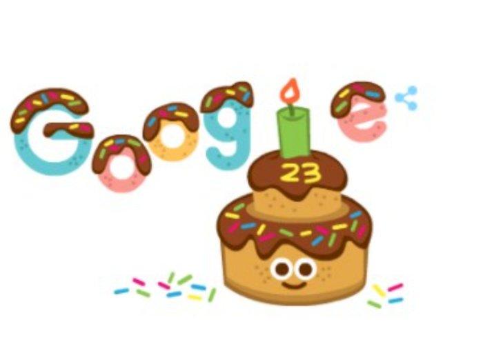 Google Rayakan Ulang Tahun ke-23 dengan Doodle  Animasi