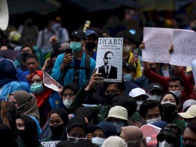 FOTO: Aksi Tolak Pemecatan 56 Pegawai KPK