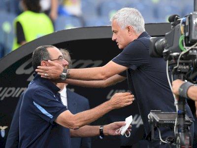 Mourinho Dicuekkin, Sarri Rayakan Kemenangan Lazio atas AS Roma dengan Burung Elang