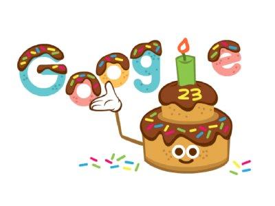 Google Rayakan Ulang Tahun ke-23, Tampilkan Doodle Kue Ulang Tahun!