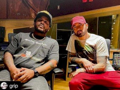 Tahun Penuh Kolaborasi, Eminem Kini Muncul di Album Terbaru Grip 'I Died For This'