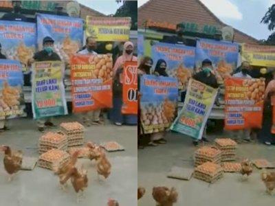 Picu Kerumunan, Aksi Peternak yang Bagi-bagi Telur Gratis di Blitar Raya Dibubarkan Polisi