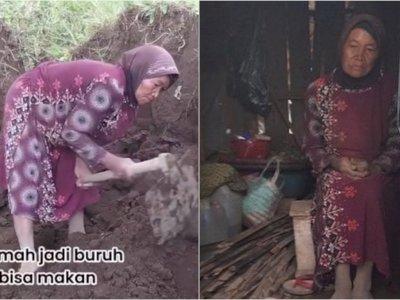 Kisah Pilu Nenek Wasmah, Jadi Buruh di Usia Senja dan Tinggal di Gubuk Reyot Sendirian