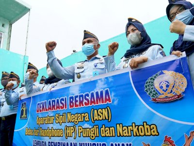 FOTO: Deklarasi LPKA Gorontalo Bebas Halinar