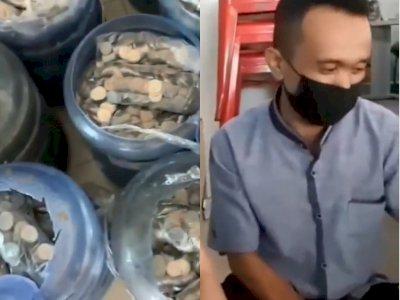Nabung Uang Koin di Galon, Pria di Makassar Ini Berhasil Beli Mobil Seharga Rp271 Juta