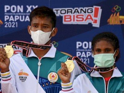 FOTO: Papua Raih Medali Emas Panjat Tebing PON Papua