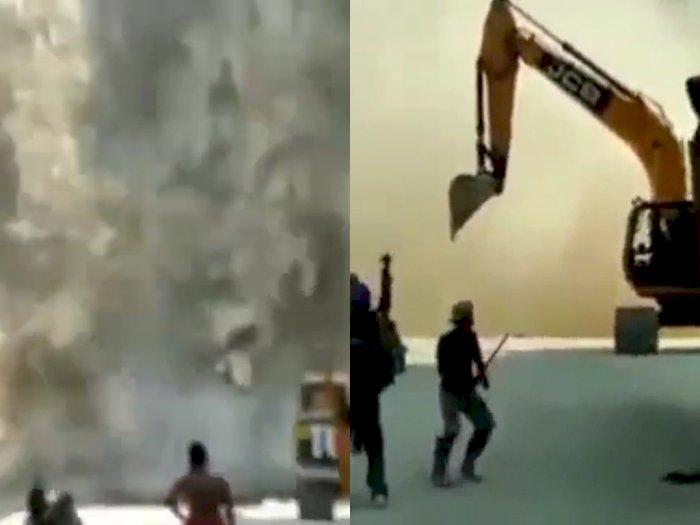 Detik-detik Tebing Gunung Kuda di Cirebon Longsor, Para Pekerja Lari Berhamburan