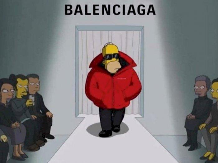 Unik, Balenciaga Gandeng The Simpsons untuk Rilis Koleksi Terbaru, Menjadi Model Brand!
