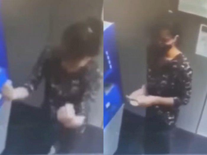 Viral Video Wanita Menari karena Terlalu Senang saat Mengambil Uang di ATM, Ngakak!