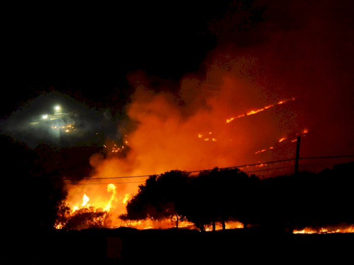 Kebakaran Hutan di Barat Laut Santa Barbara, Ini Foto-fotonya