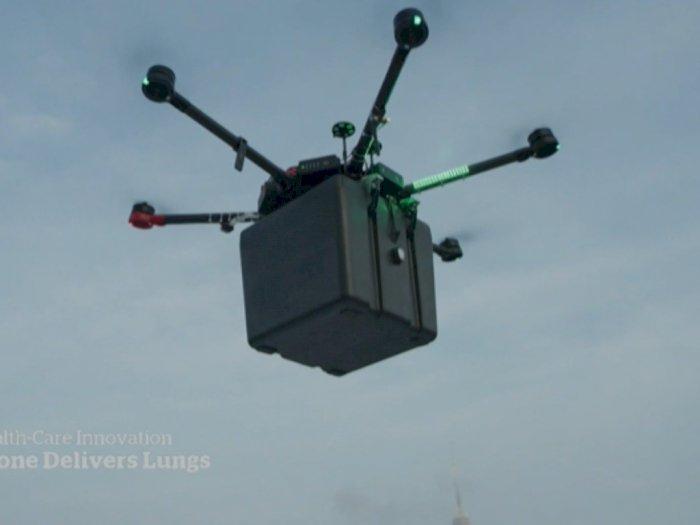 Drone Tak Berawak Bawa Sepasang Paru-paru untuk Transplantasi, Tempuh Perjalanan 1,5 Km