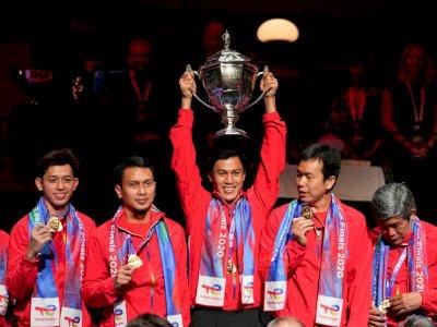 Presiden Jokowi Gembira Indonesia Raih Juara Piala Thomas Setelah Penantian 19 Tahun