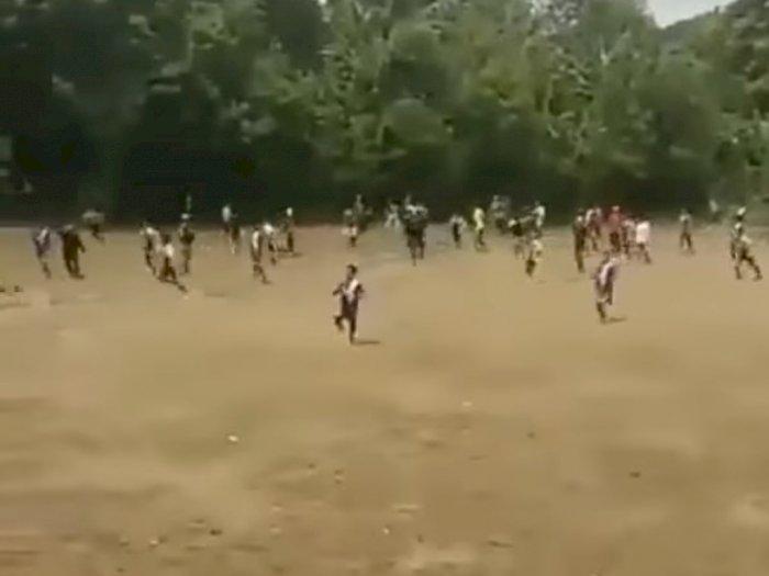 Turnamen Sepak Bola di Tangerang Berujung Ricuh, Pemain Saling Baku Hantam di Lapangan