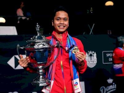 Taklukkan China di Piala Thomas, Intip Medali yang Pernah Diraih Anthony Ginting