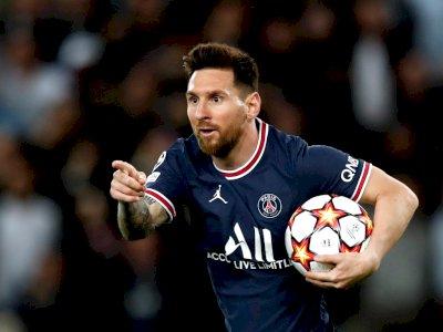Usai Momen Reuni Mengharukan dengan Ronaldinho, Messi Cetak Brace Kemenangan PSG