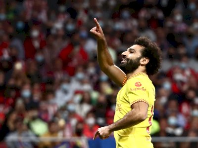 Dua Gol ke Gawang Atletico Madrid Bikin Salah Jadi Top Skor Liverpool di Liga Champions