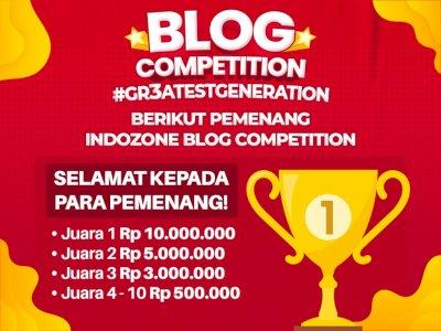 Selamat! Inilah Daftar Pemenang INDOZONE Blog Competition 2021