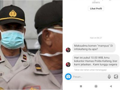 Viral Netizen Dicari Admin Instagram Polda Kalteng karena Sebut Kata 'Mampus'