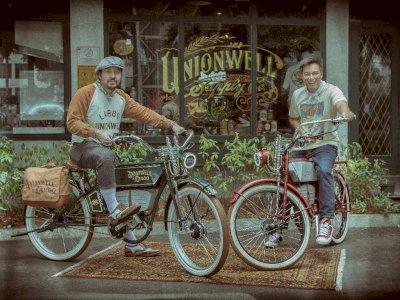 Brand Fashion David Bayu Kolaborasi Dengan LARGO Membuat Sepeda Listrik Vintage