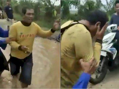 Curi Ternak Domba Warga, Pria di Karawang Diamuk Massa di Kubangan Air