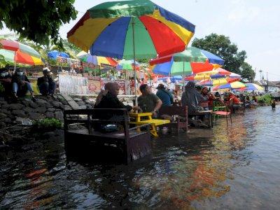 Wisata Kuliner Air di Boyolali, Makan di Tengah Aliran Sungai, Ini Foto-fotonya
