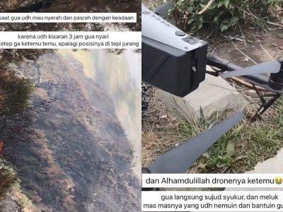 Pria Ini Kehilangan Drone Rp70 Juta di Gunung, Tak  Disangka 'Keajaiban' Datang Padanya