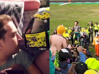 Ternyata Ini Orang yang Dapatkan Helm Khusus Pemberian Rossi di MotoGP Emilia Romagna