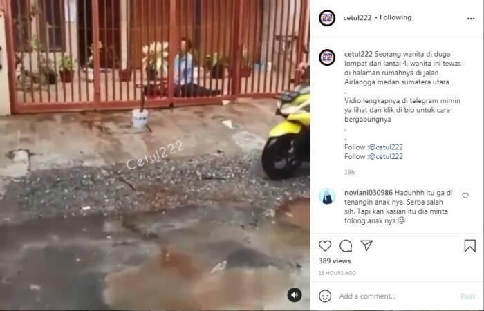 Wanita pengidap bipolar loncat dari lantai 3 ruko di Medan