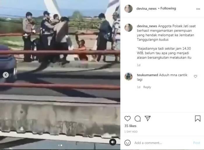 Polsek Jati gagalkan aksi bunuh diri gadis cantik