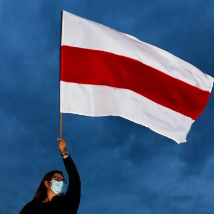 bendera gerakan nasionalis oposisi Belarusia