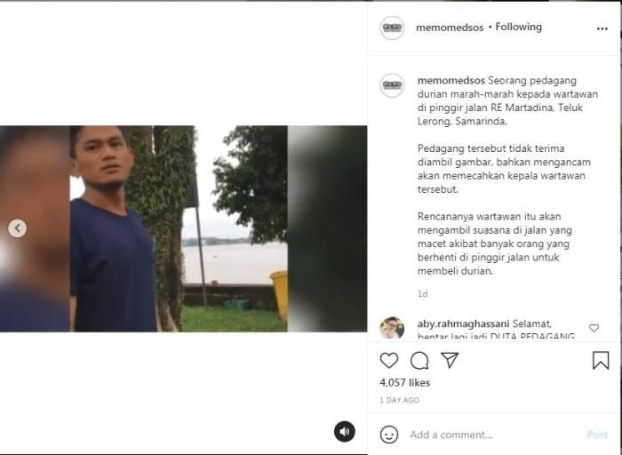 Pedagang durian marah-marah ke wartawan
