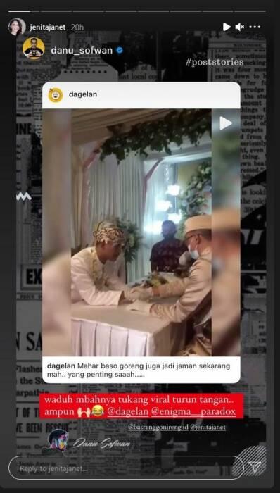 Bakso Goreng sebagai mahar nikah