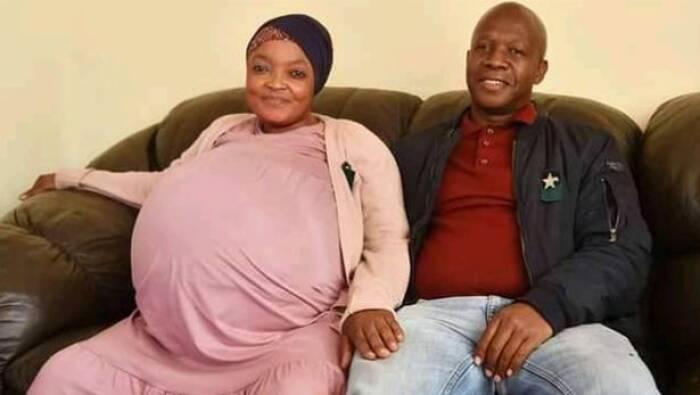 Gosiame Thamara Sith dan suaminya Tebogo Tsotetsi.