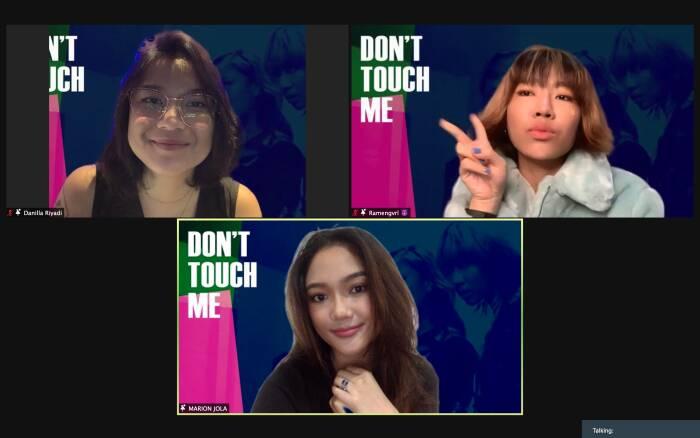 Ramengvrl (kiri), Danilla (tengah), dan Marion Jola (kanan). (Dok. Universal Musik Indonesia).