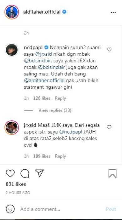 Komentar Jerinx dan NOra