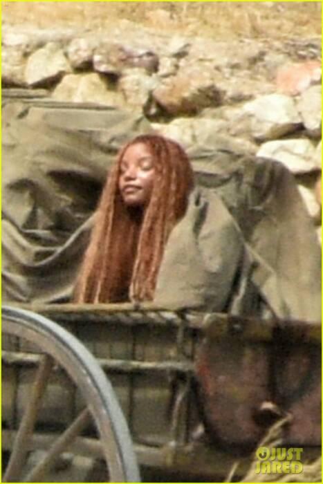 Kebocoroan gambar yang menampilkan Hailey Bailey sebagai Little Mermaid (Just Jared)