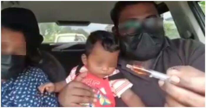 pasangan meracuni bayinya