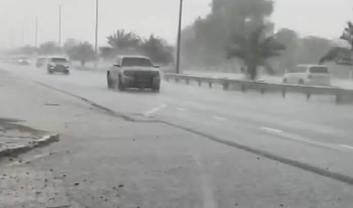 Hujan buatan di Dubai. (Ist)
