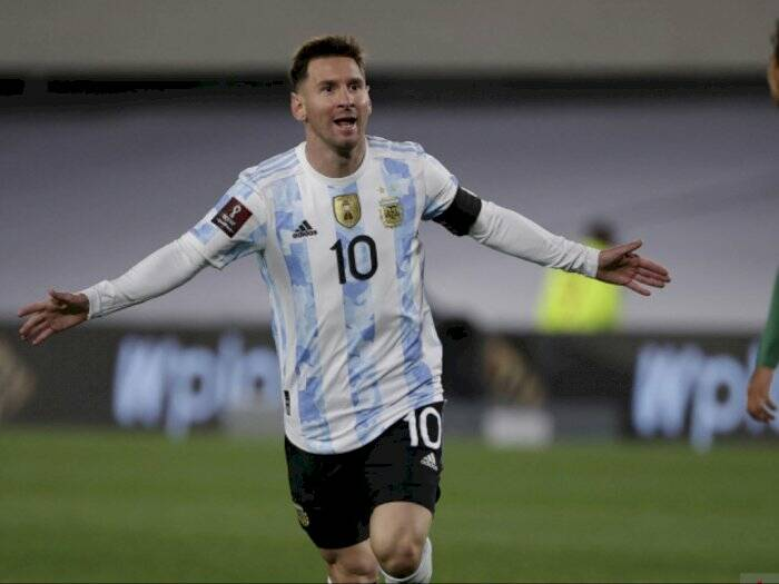 Lionel Messi catatkan hattrick saat berjumpa Bolivia. (Foto/Antara)